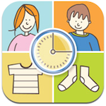 Caregivers use the app to rapidly create and present visual supports